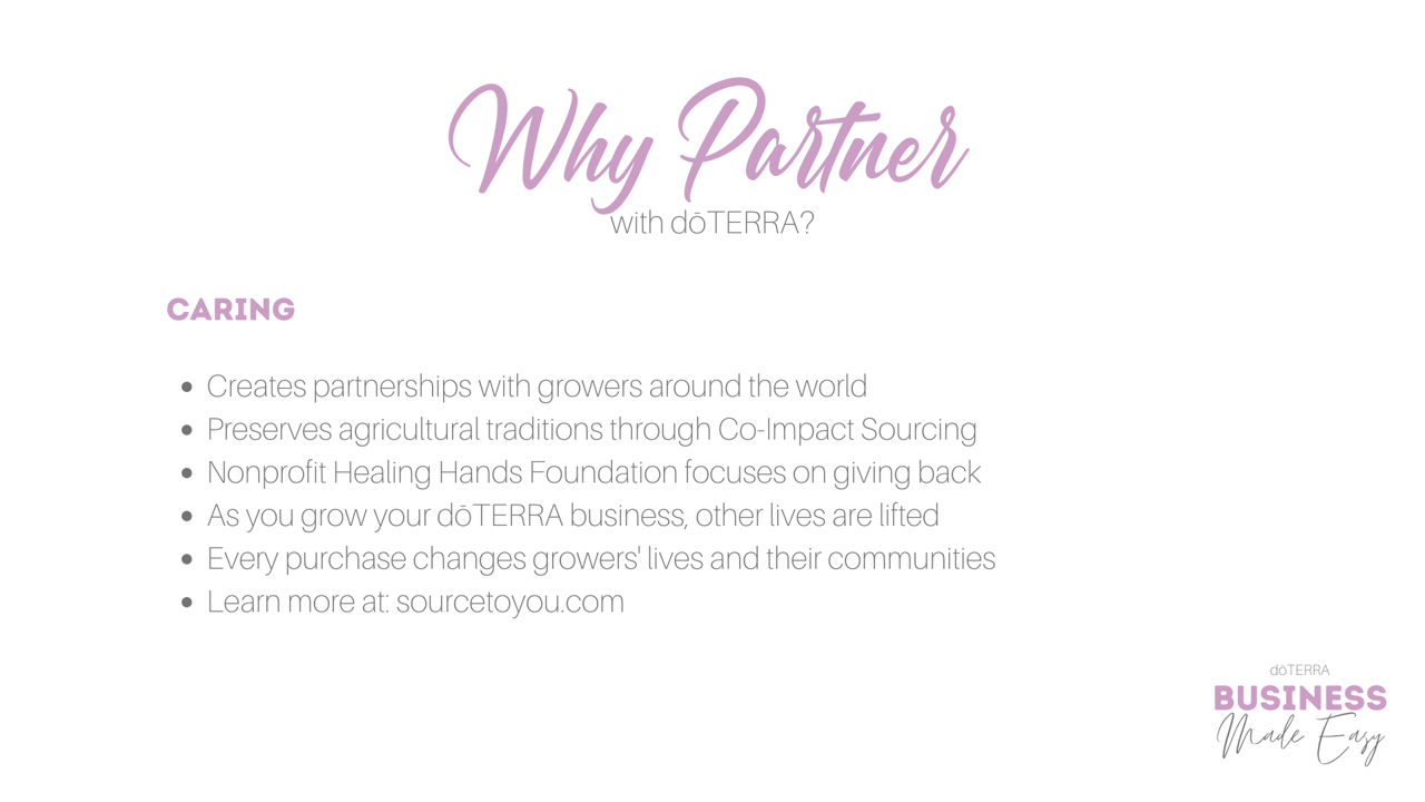 Why doTERRA - Caring.