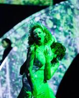 The green-clad woman, troll princess