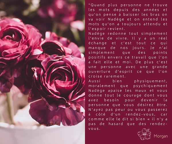 Pourpre et Rose Typographie Fleurs Publi