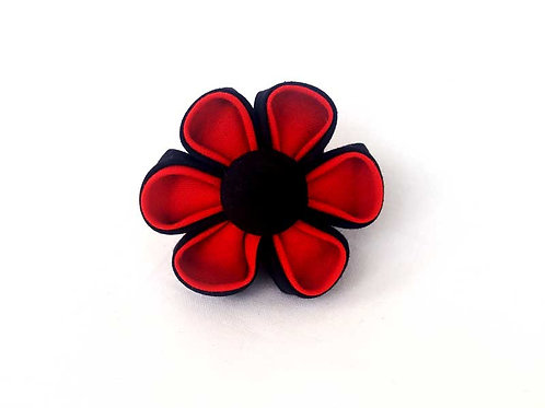 red black - flower bow
