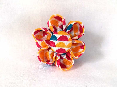 yellow pink teal - flower bow