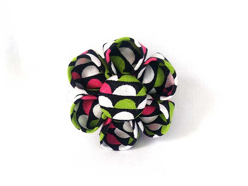 green white pink - flower bow