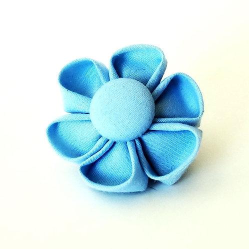 light blue - flower bow