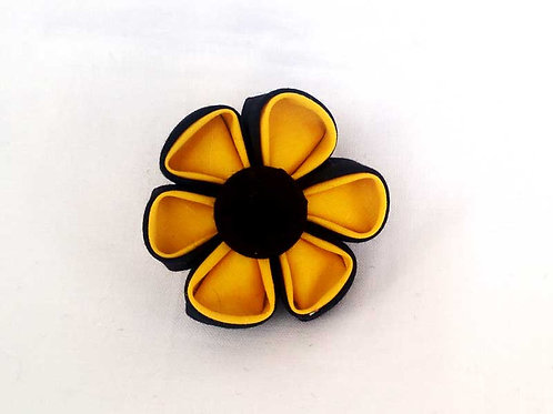 black yellow - flower bow