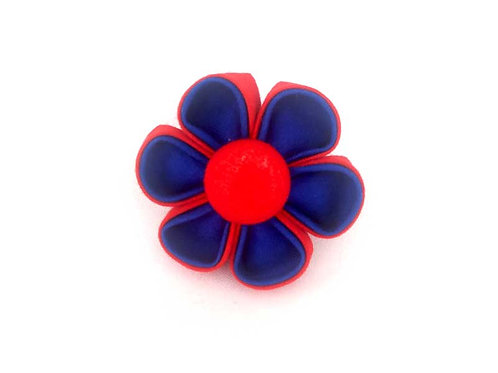 red blue - flower bow