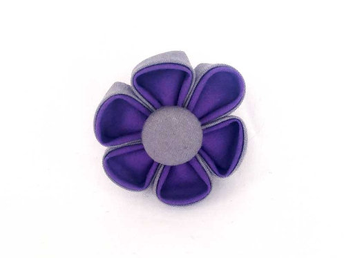 purple gray - flower bow