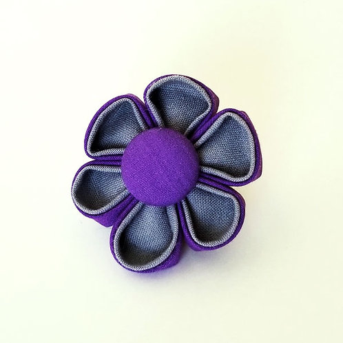 purple gray - flower bow