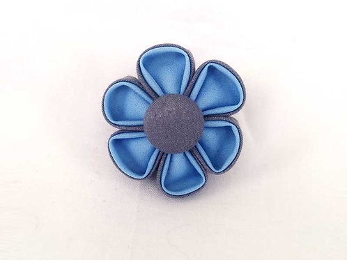 blue gray - flower bow