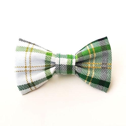green plaid - narrow bow ties