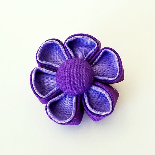 two tone purple - flower bow