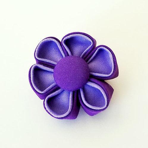 two tone purple - flower bow