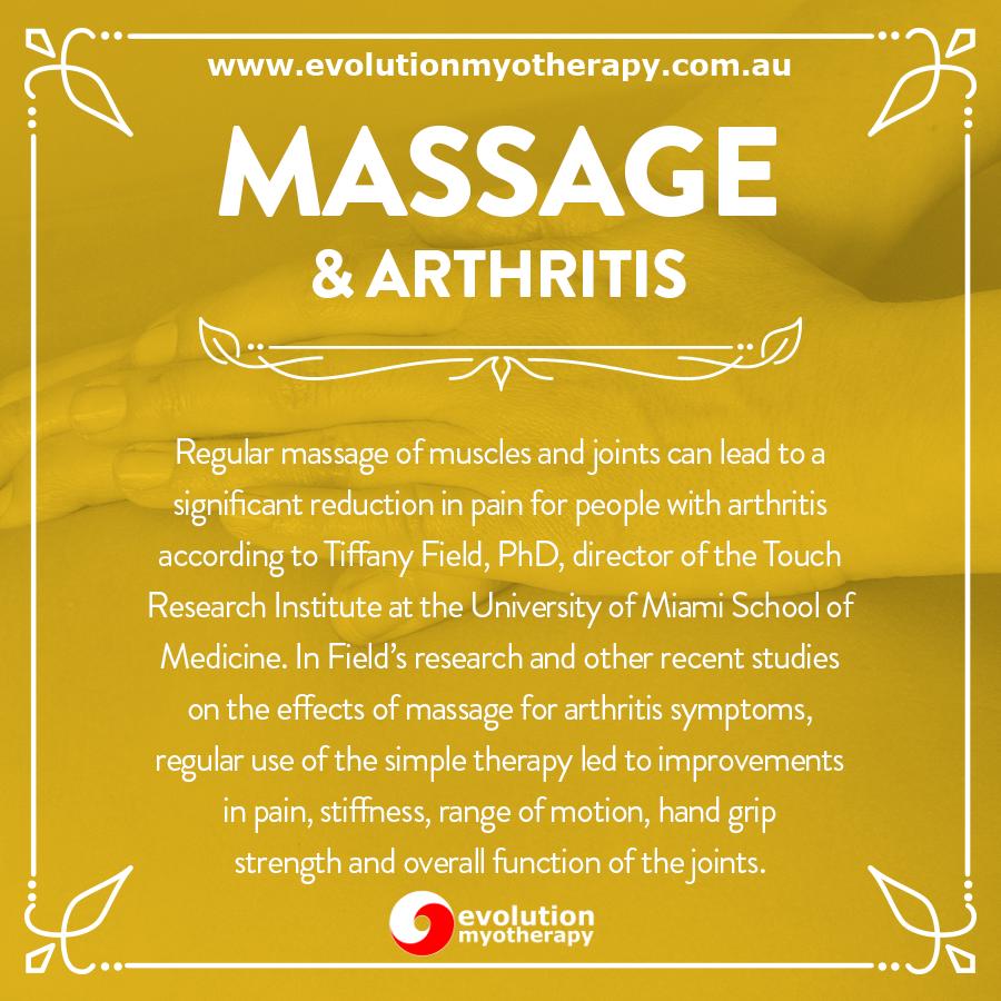 Massage & Arthritis