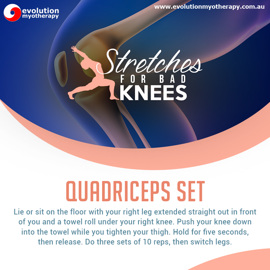 Stretches For Bad Knees: Quadriceps Set