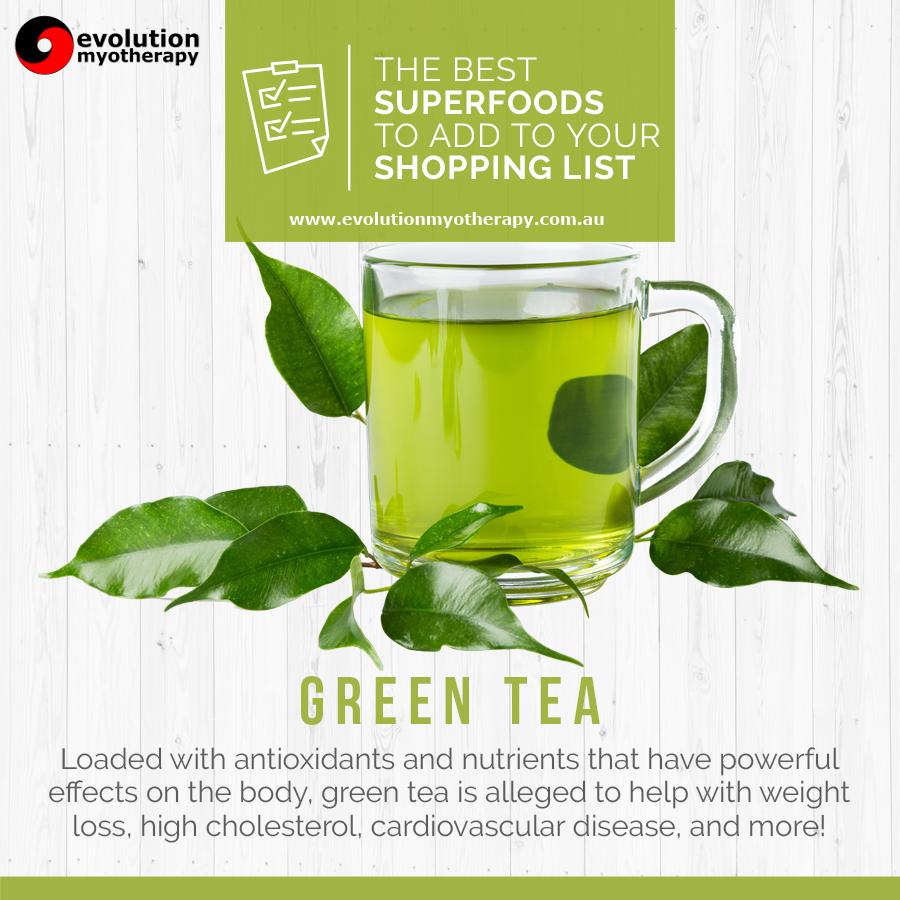 Shopping List Superfoods: Green Tea