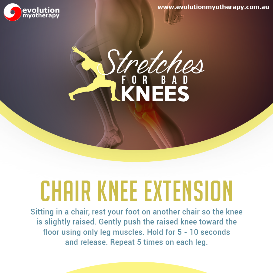 Stretches For Bad Knees: Chair Knee Extension