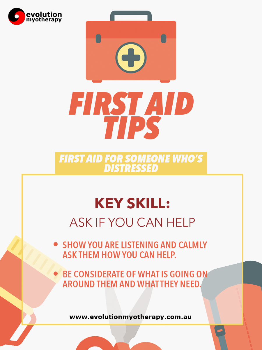 First Aid Tips #13: Someone Who's Distressed