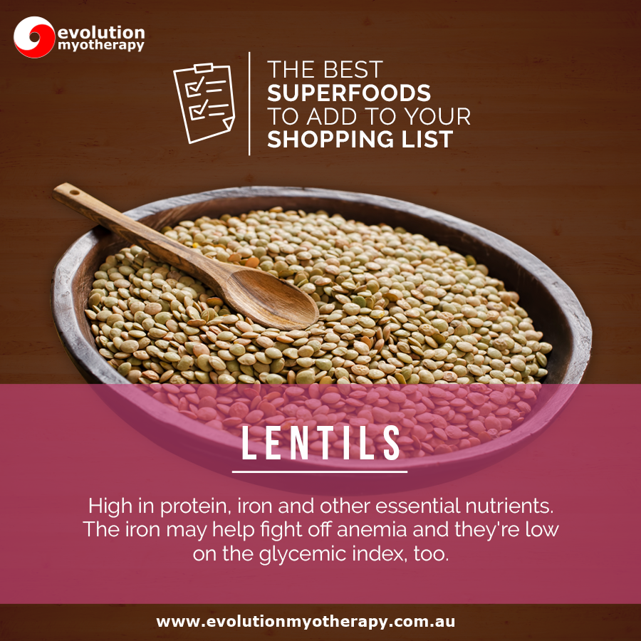 Shopping List Superfoods: Lentils