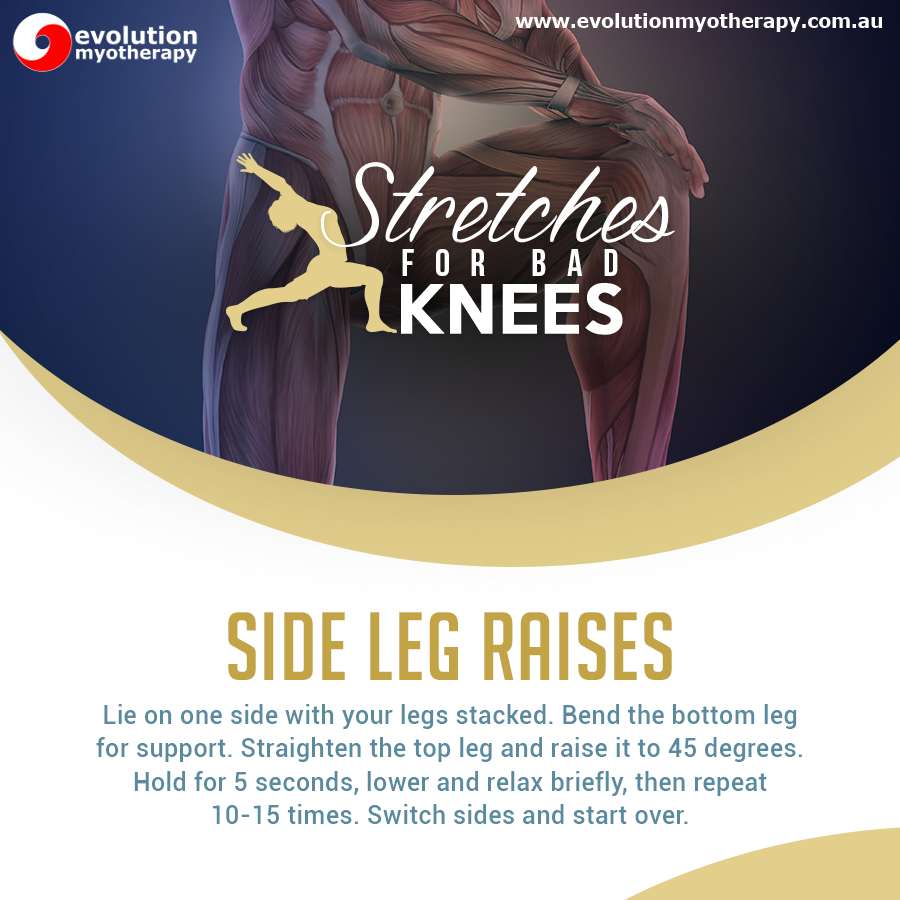 Stretches For Bad Knees: Side Leg Raises