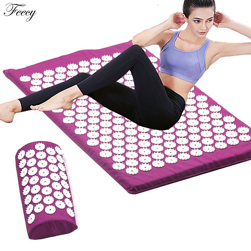 Acupressure Massage Mat Set - Back Body Feet - Relieve Stress & Pain