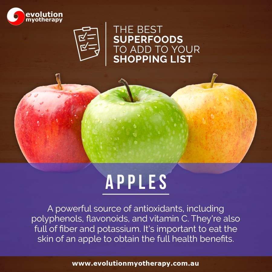 Shopping List Superfoods: Apples