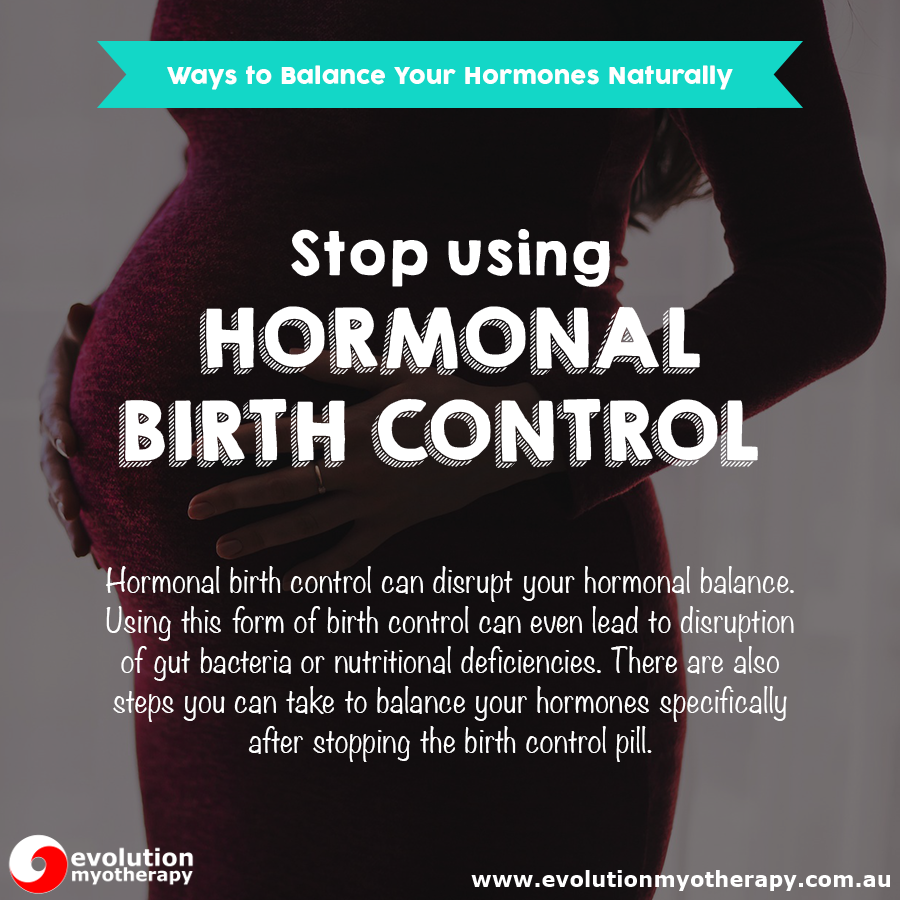 Stop Using Hormonal Birth Control