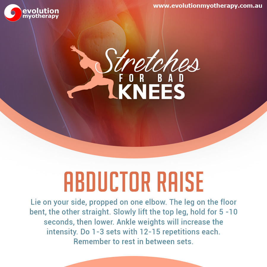 Stretches For Bad Knees: Abductor Raise
