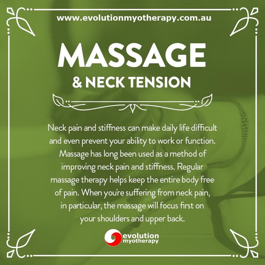Massage & Neck Tension