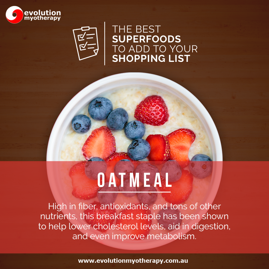 Shopping List Superfoods: Oatmeal