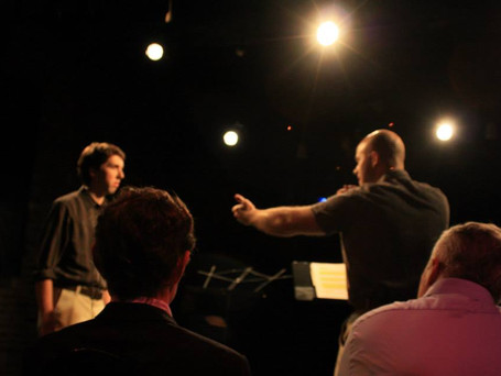 Caleb plays lead in staged reading of All Quiet by Terence Patrick Hughes