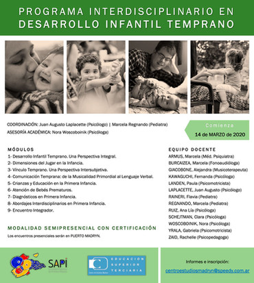 Programa Interdisciplinario en Desarrollo Infantil Temprano