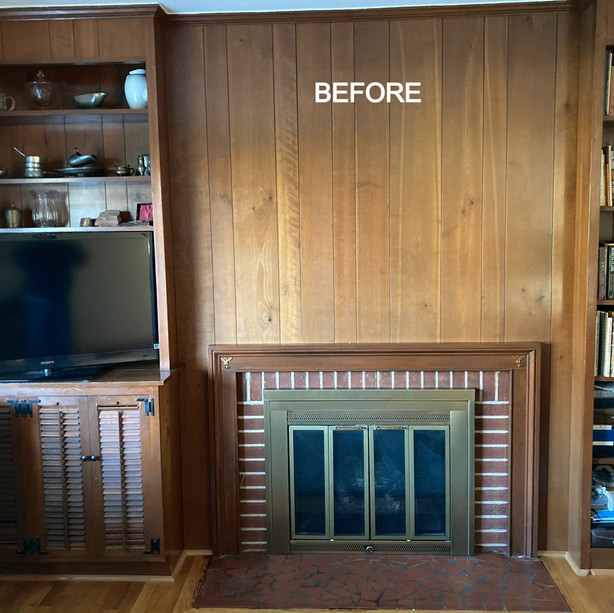 Family Room Transformation - BEFORE