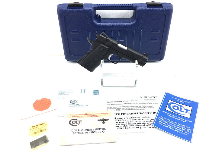 2005 Colt Gunsight Pistol 1911 in .45 ACP with Crimson Trace Laser Grips