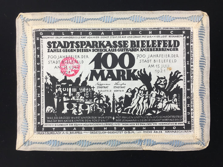 Pre WW2 German Inflationary Linen 100 Mark Note