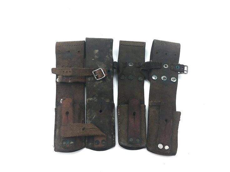 Original WWII Swedish Mauser Bayonet Leather Frogs