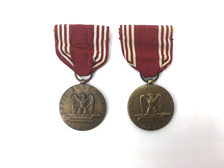 WWII Era Army Good Conduct Medal Pair
