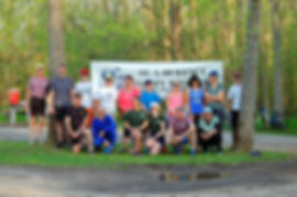 Paddlers and runners gather for the May 2018 duathlon