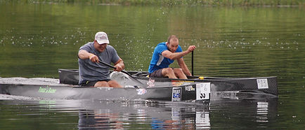 C-1 pro canoe racers at the 2013 Madrid Canoe Regatta, Madrid, NY