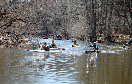 K-1 start at the 2018 Little River Ramble, Canton, NY