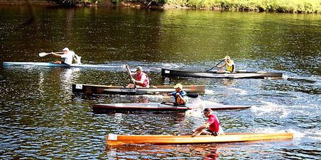 C-1 canoes racing on the 2015 Remington II, Rensselear Falls to Heuvelton, NY