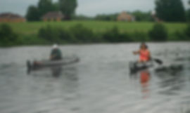Paddlers on the Grasse River during a 2014 Wednesday scramble