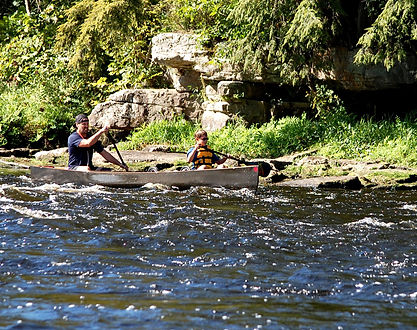 Paddlers encounter class I rapids at the 2015 Reminton II race from Rensselaer Falls to Heuvelton, NY
