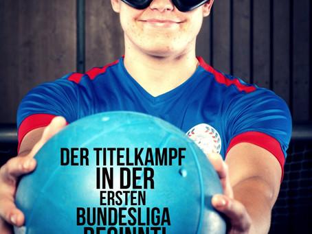 Der Titelkampf in der 1. Bundesliga Goalball beginnt!