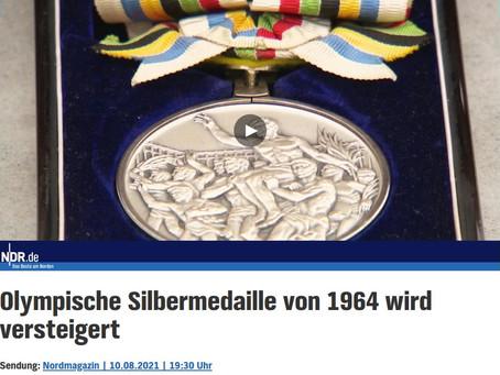 Nordmagazin - Versteigerung olympische Silbermedaille