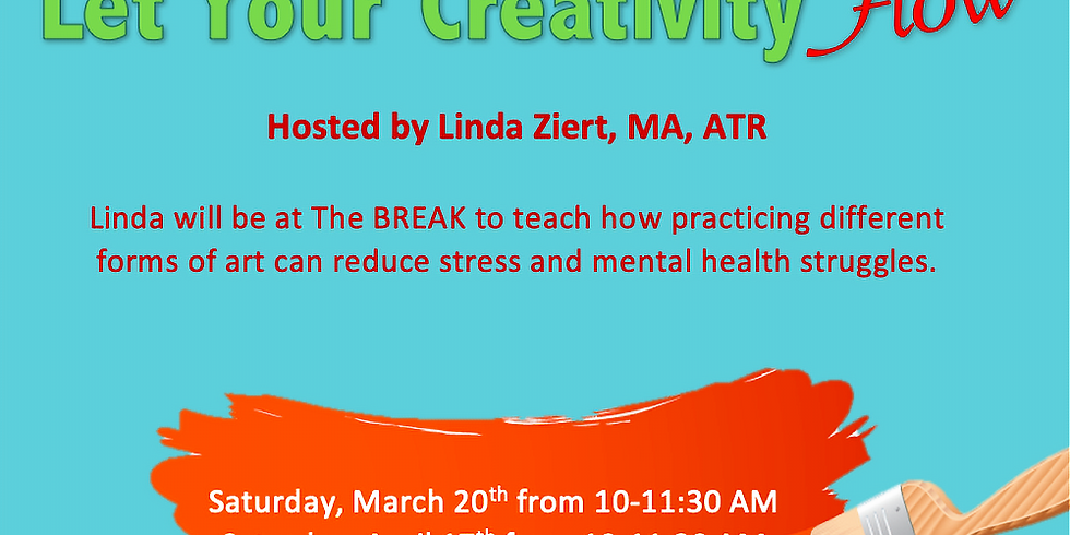 Radiant Art Therapy at The BREAK with Linda Ziert, MA, ATR.