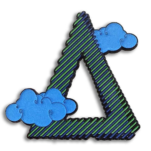 Cyan and Green Enamel Pin