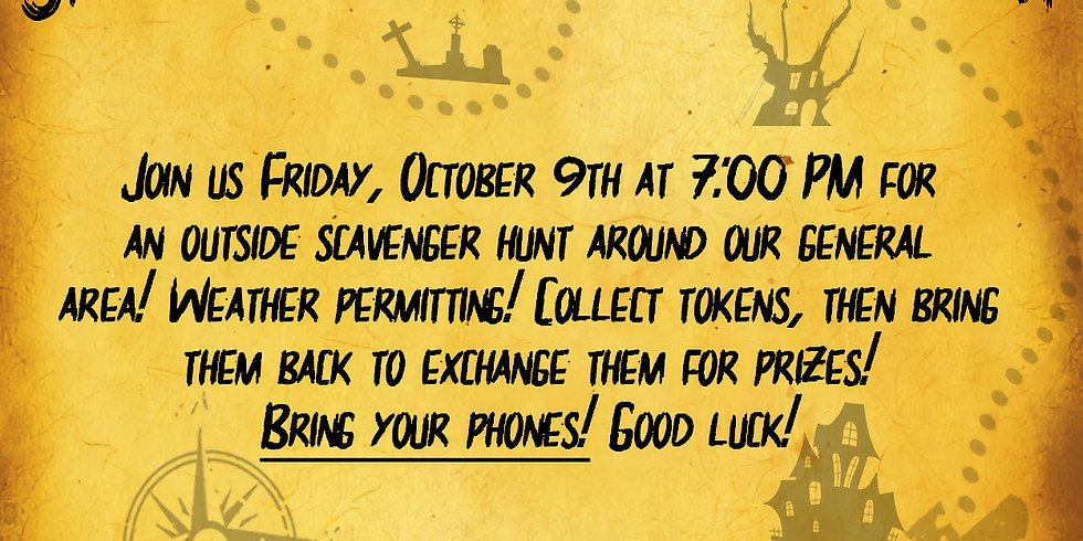 Spooky Scary Scavenger Hunt