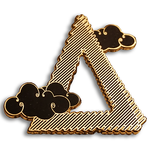 Gold and Black Enamel Pin