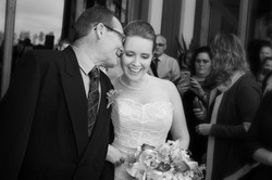 Special moment between bride and her father as he walks her down the isle