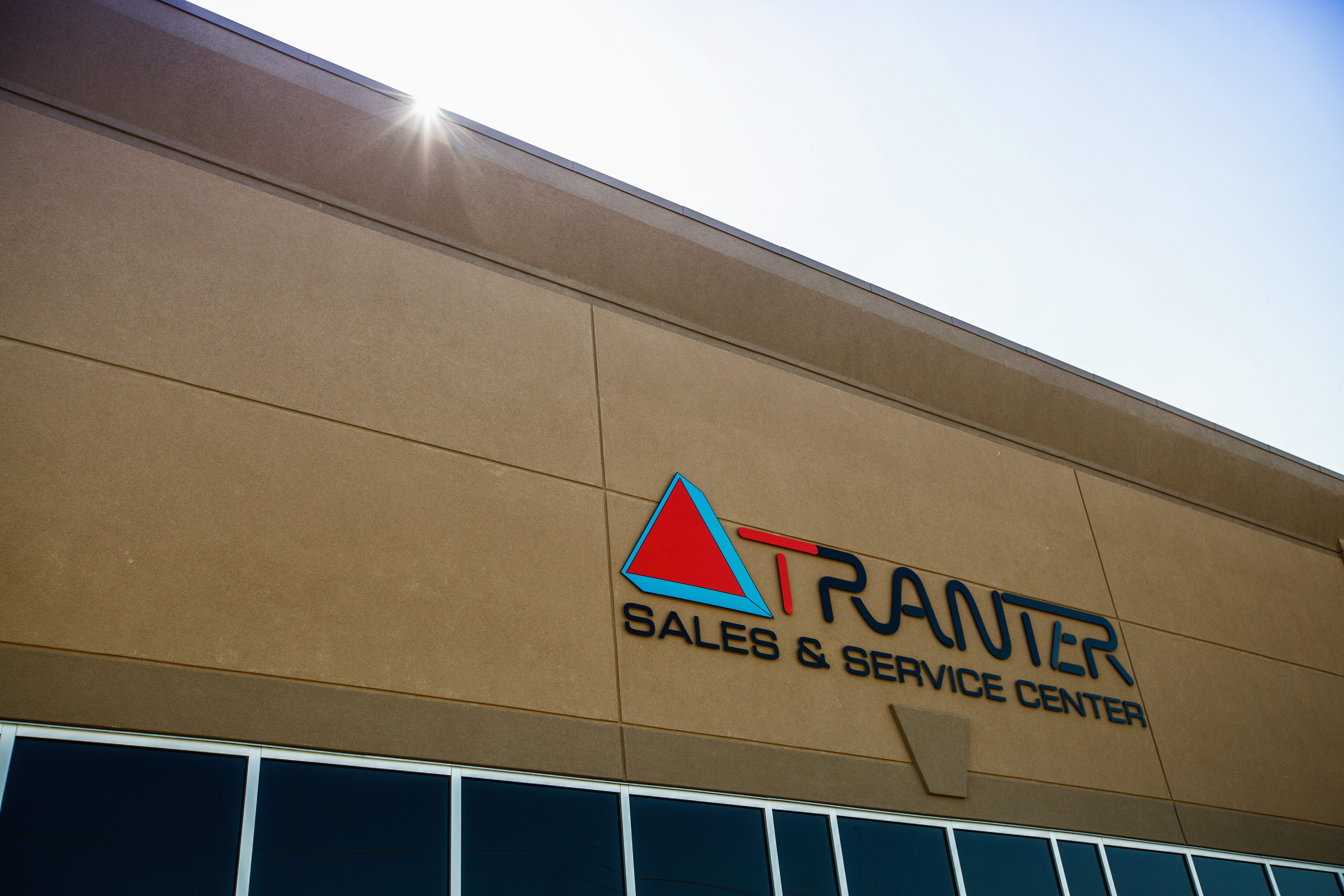 Tranter Sales and Service sign on building