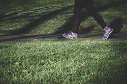 Jogging dans le parc